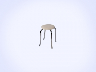 Nickel Tulip Stool