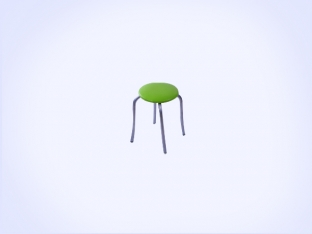 Static Paint Tulip Stool-1