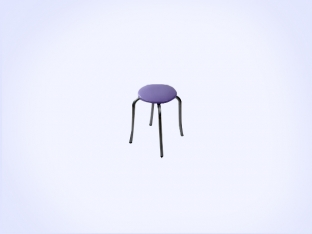 Static Paint Tulip Stool-3