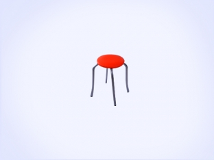 Static Paint Tulip Stool-4